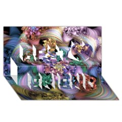 Bright Taffy Spiral Best Friends 3D Greeting Card (8x4)