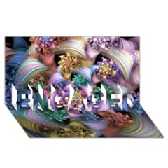Bright Taffy Spiral ENGAGED 3D Greeting Card (8x4)