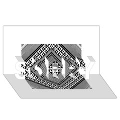 Geometric Pattern Vector Illustration Myxk9m   SORRY 3D Greeting Card (8x4)
