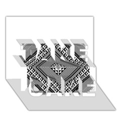 Geometric Pattern Vector Illustration Myxk9m   TAKE CARE 3D Greeting Card (7x5)