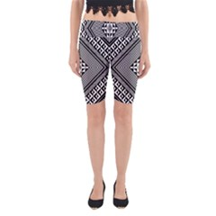 Geometric Pattern Vector Illustration Myxk9m   Yoga Cropped Leggings