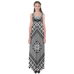 Geometric Pattern Vector Illustration Myxk9m   Empire Waist Maxi Dress