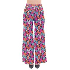 Sketchy Floral Women s Chic Palazzo Pants