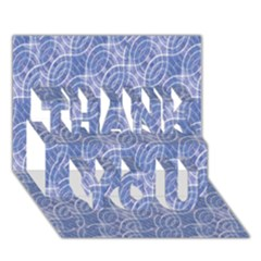 Modern Abstract Geometric Thank You 3d Greeting Card (7x5)