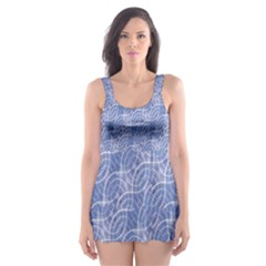 Modern Abstract Geometric Skater Dress Swimsuit