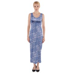 Modern Abstract Geometric Fitted Maxi Dress