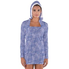 Modern Abstract Geometric Women s Long Sleeve Hooded T Shirt