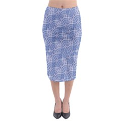 Modern Abstract Geometric Midi Pencil Skirt