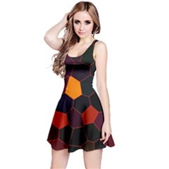 Abstracted Reversible Sleeveless Dress