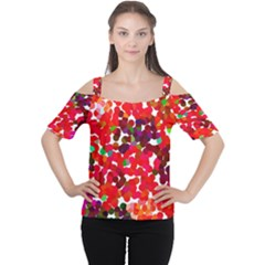 Abstract Land2 111 Women s Cutout Shoulder Tee