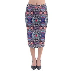 SPACE WALLS Midi Pencil Skirt