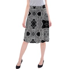 Back  Black Two Midi Beach Skirt