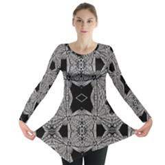 BACK  BLACK two Long Sleeve Tunic