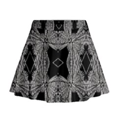 Back  Black Two Mini Flare Skirt