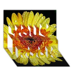 Yellow Flower Close up You Rock 3D Greeting Card (7x5)