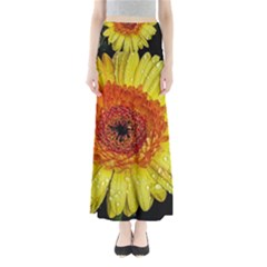 Yellow Flower Close up Maxi Skirts