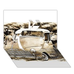 Vintage Chevrolet Pick up Truck Apple 3D Greeting Card (7x5)