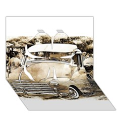 Vintage Chevrolet Pick up Truck Clover 3D Greeting Card (7x5)