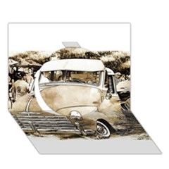 Vintage Chevrolet Pick up Truck Circle 3D Greeting Card (7x5)