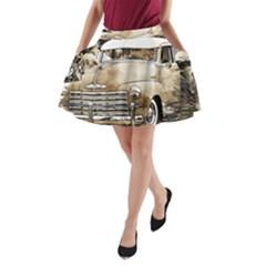 Vintage Chevrolet Pick Up Truck A Line Pocket Skirt