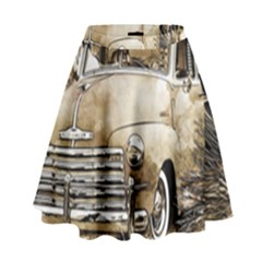 Vintage Chevrolet Pick up Truck High Waist Skirt