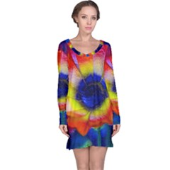 Tie Dye Flower Long Sleeve Nightdress