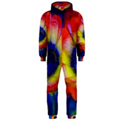 Tie Dye Flower Hooded Jumpsuit (Men)
