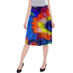 Tie Dye Flower Midi Beach Skirt