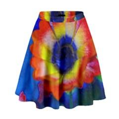 Tie Dye Flower High Waist Skirt