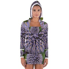 Globe Mallow Flower Women s Long Sleeve Hooded T-shirt
