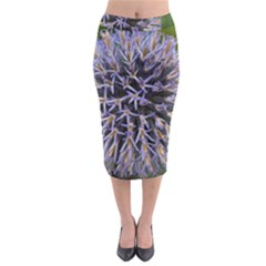 Globe Mallow Flower Midi Pencil Skirt