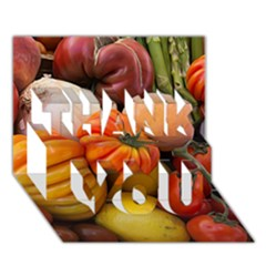 Heirloom Tomatoes THANK YOU 3D Greeting Card (7x5)