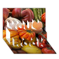 Heirloom Tomatoes You Rock 3D Greeting Card (7x5)