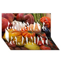 Heirloom Tomatoes Congrats Graduate 3D Greeting Card (8x4)