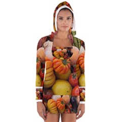 Heirloom Tomatoes Women s Long Sleeve Hooded T-shirt