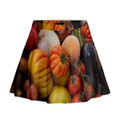Heirloom Tomatoes Mini Flare Skirt