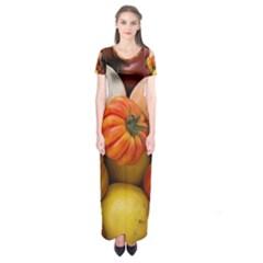 Heirloom Tomatoes Short Sleeve Maxi Dress