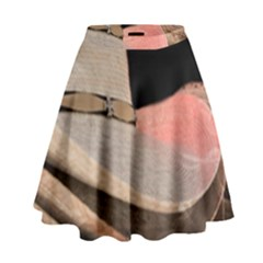 Straw Hats High Waist Skirt