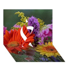 Colorful Flowers Ribbon 3D Greeting Card (7x5)
