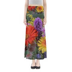 Colorful Flowers Maxi Skirts