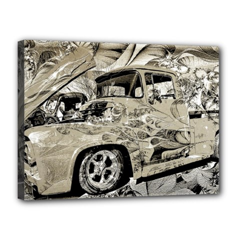 Old Ford Pick Up Truck  Canvas 16  x 12