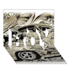 Old Ford Pick Up Truck  BOY 3D Greeting Card (7x5)
