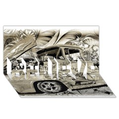 Old Ford Pick Up Truck  BELIEVE 3D Greeting Card (8x4)