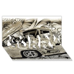 Old Ford Pick Up Truck  SORRY 3D Greeting Card (8x4)
