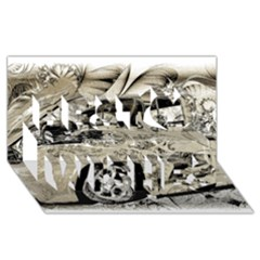 Old Ford Pick Up Truck  Best Wish 3D Greeting Card (8x4)