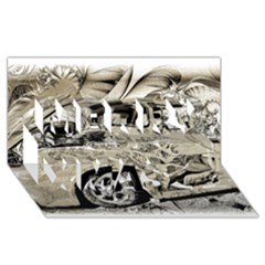 Old Ford Pick Up Truck  Merry Xmas 3D Greeting Card (8x4)