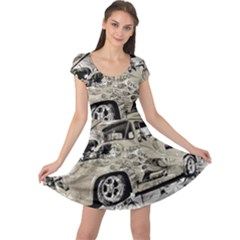 Old Ford Pick Up Truck  Cap Sleeve Dresses