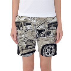 Old Ford Pick Up Truck  Women s Basketball Shorts