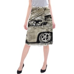 Old Ford Pick Up Truck  Midi Beach Skirt