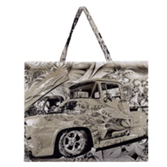 Old Ford Pick Up Truck  Zipper Large Tote Bag